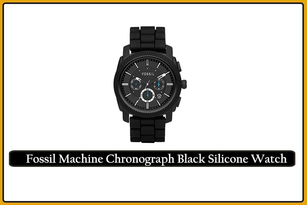 Fossil Machine Chronograph Black Silicone Watch