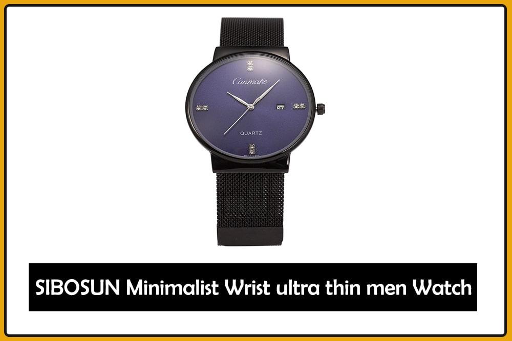 SIBOSUN Minimalist Wrist ultra thin men watch