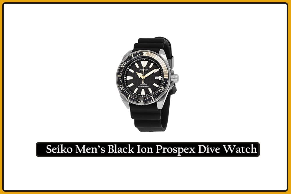Seiko Men's Black Ion Prospex Dive Watch