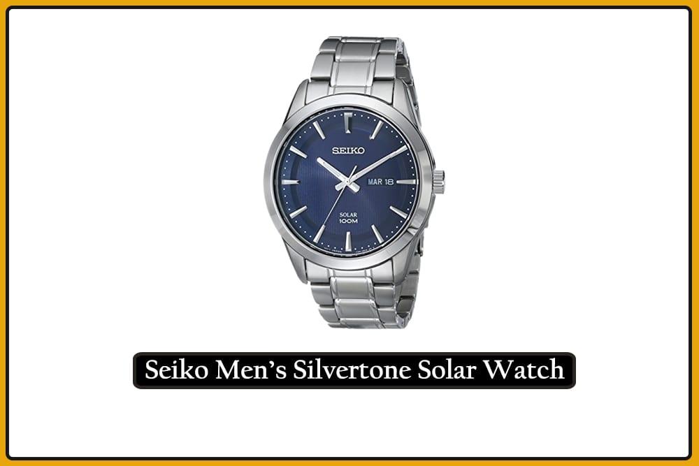 Seiko Men's Silvertone Solar Watch