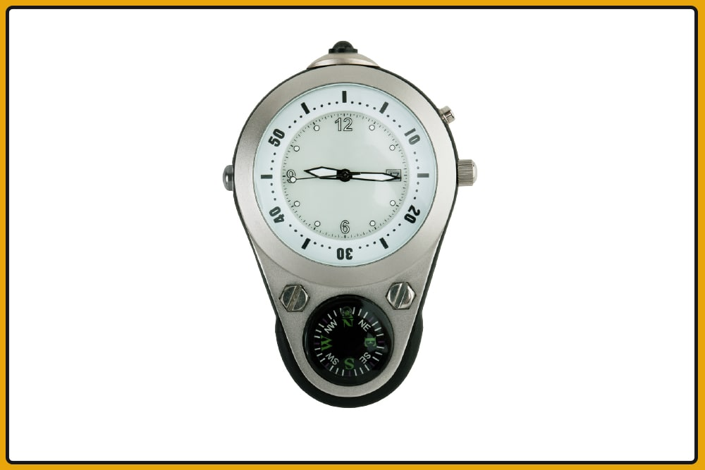 use a watch as a compass
