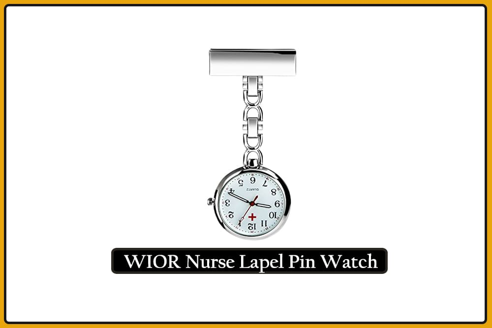 WIOR Nurse Lapel Pin Watch