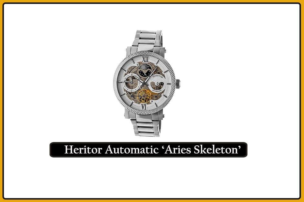 Heritor Automatic 'Aries Skeleton'