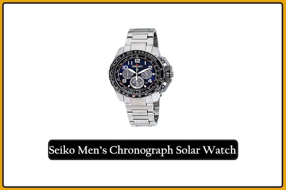 Seiko Men's Chronograph Solar Watch