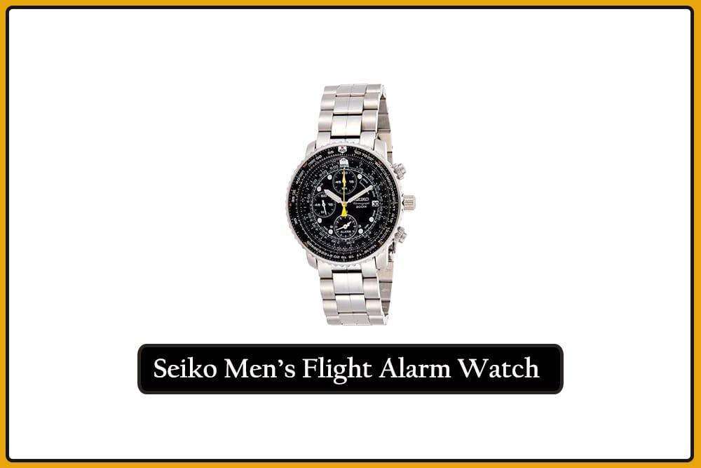 Seiko Men's SNA411 Flight Alarm Watch