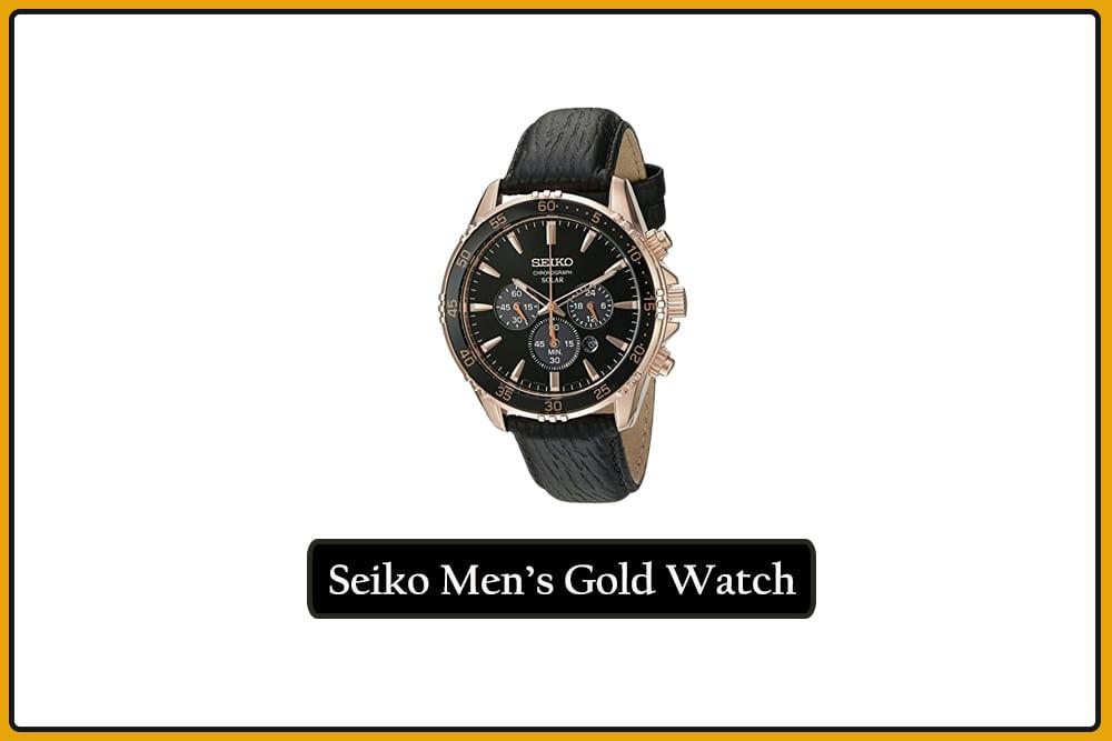 Seiko SSC448 Men's Gold Watch