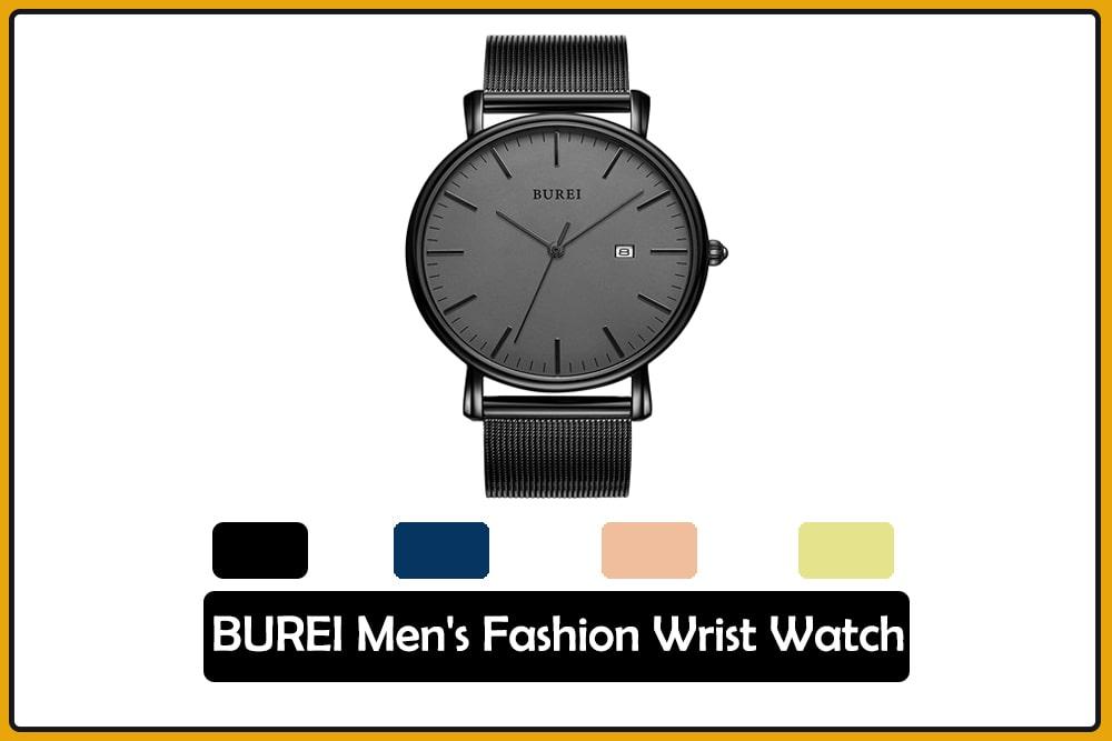BUREI Men's Fashion Wrist Watch