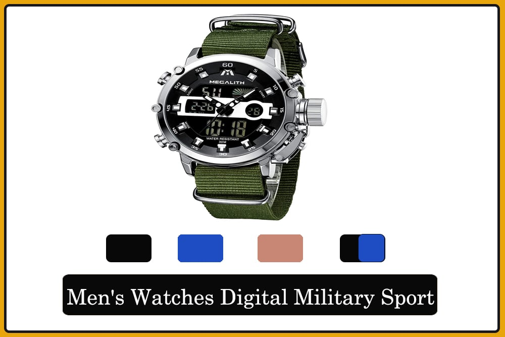 Men's Watches Digital Military Sport