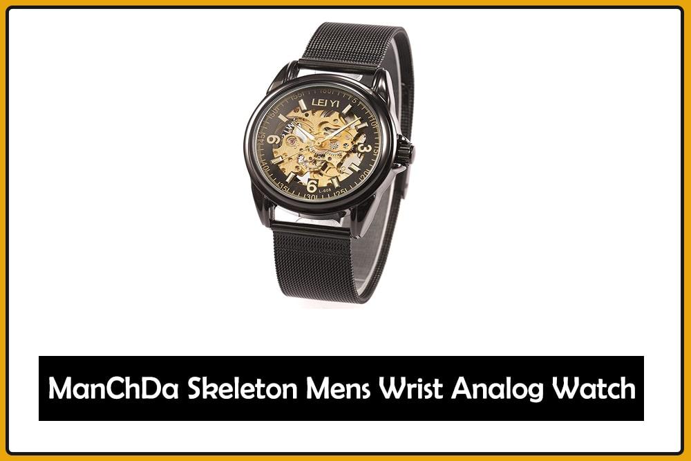 ManChDa Skeleton Mens Wrist Analog Watch