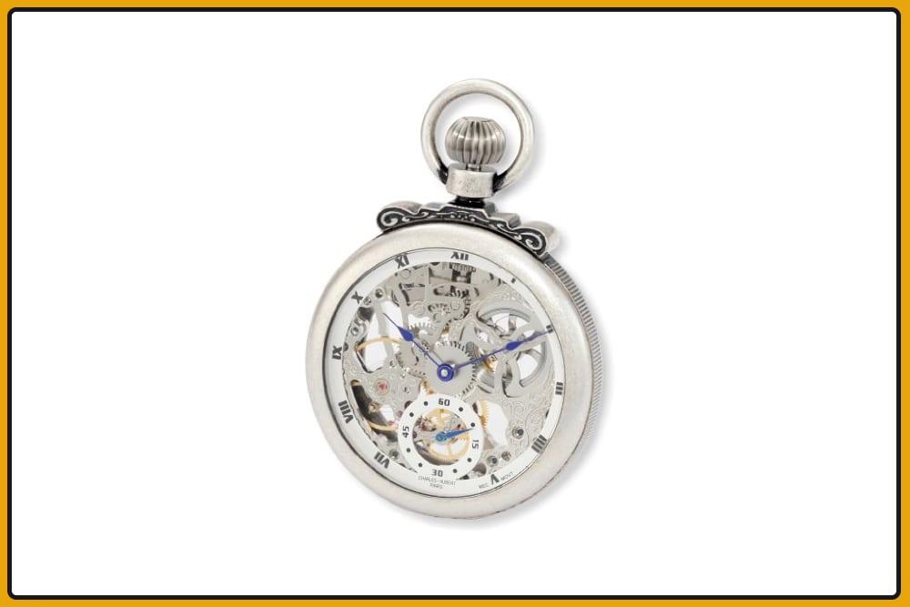 Charles-Hubert Paris 3866-S Classic Mechanical Pocket Watch