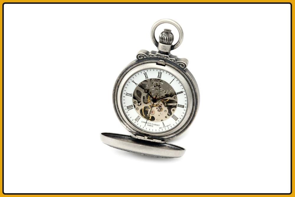 Charles-Hubert, Paris Double Hunter Case Mechanical Pocket Watch