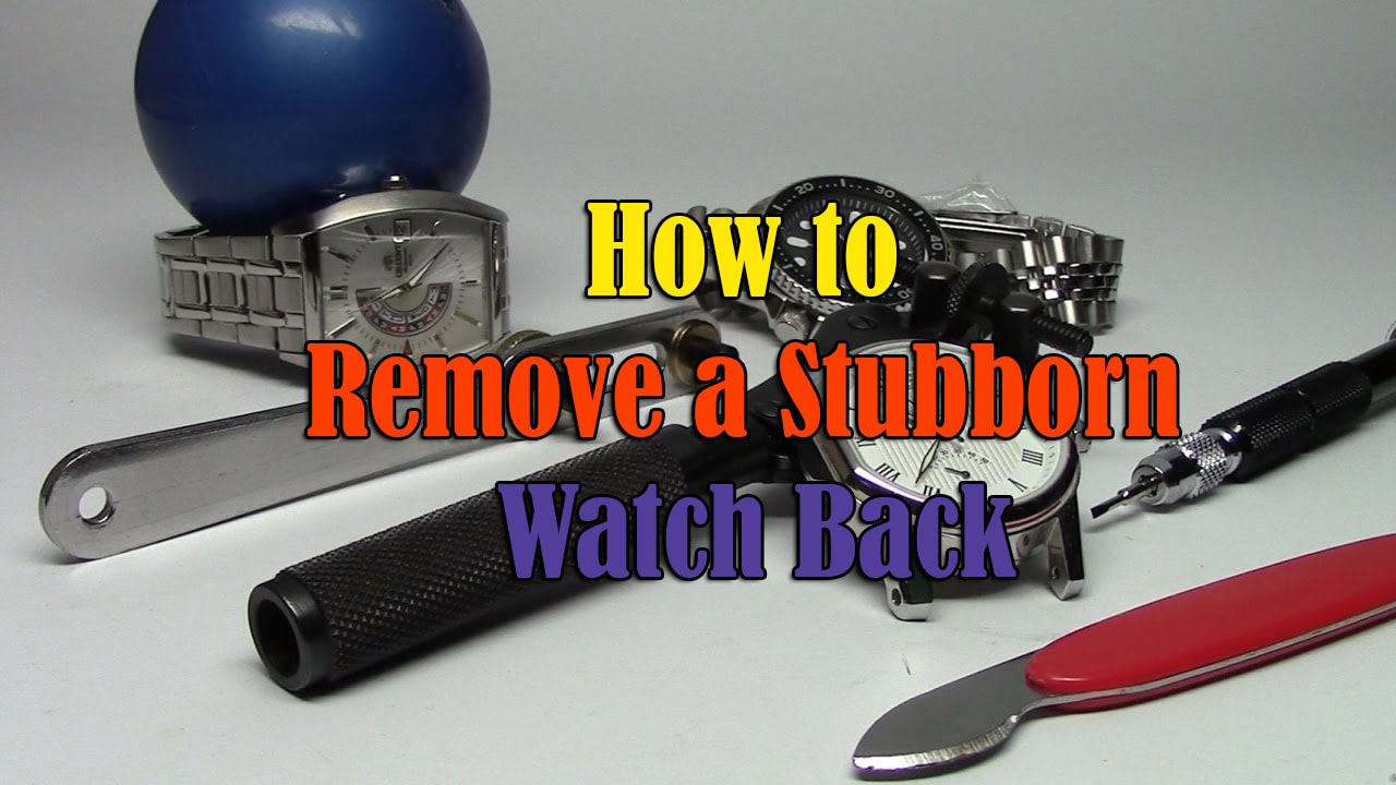 How to Remove a Stubborn Watch Back