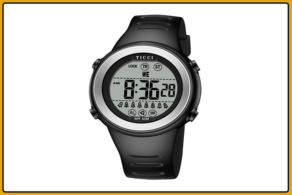 TICCI Unisex 8 Vibrating Alarm Watch
