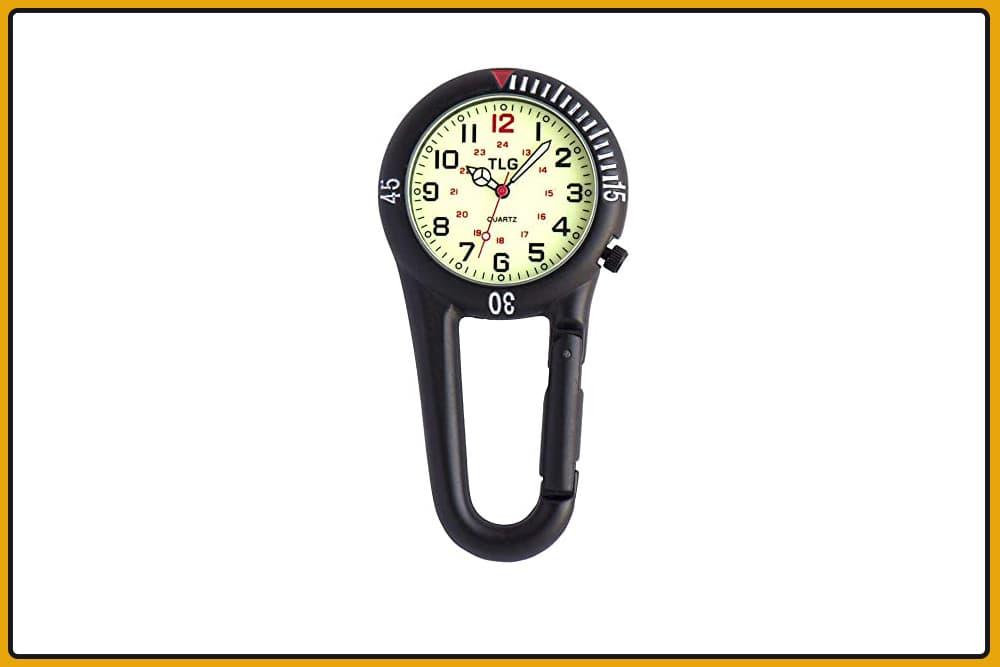 TLG Nurse's Clip-On Watch
